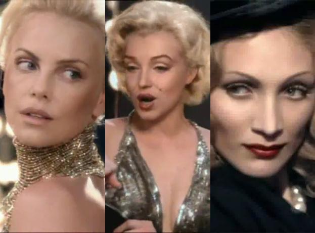 Theron w reklamie z... Monroe, Dietrch i Kelly!
